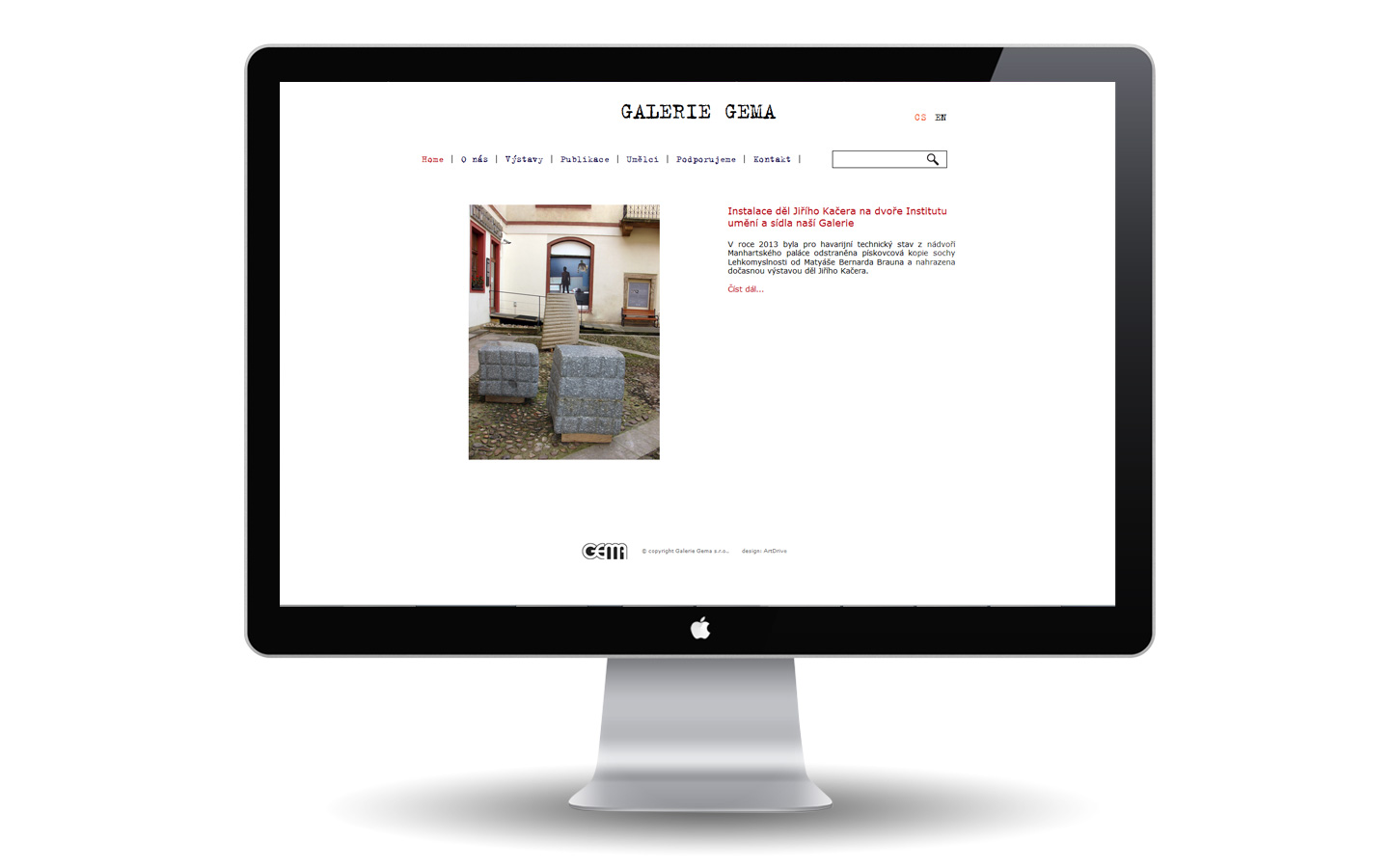 Galerie Gema - návrh a reallizace webu
