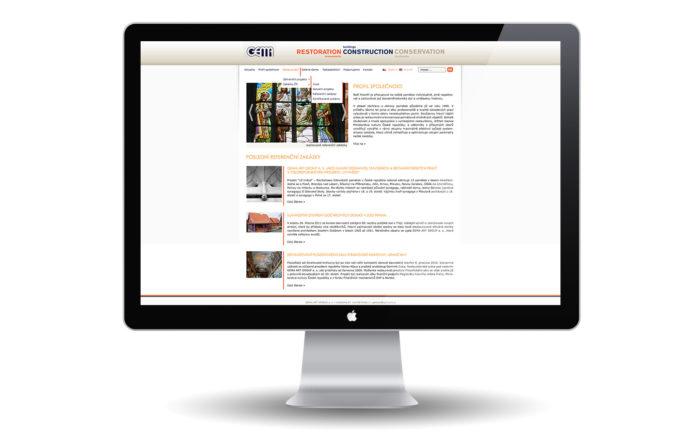 GemaArt Group - návrh a realizace webu