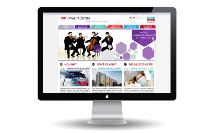 IOP - program Kvalita života návrh webu
